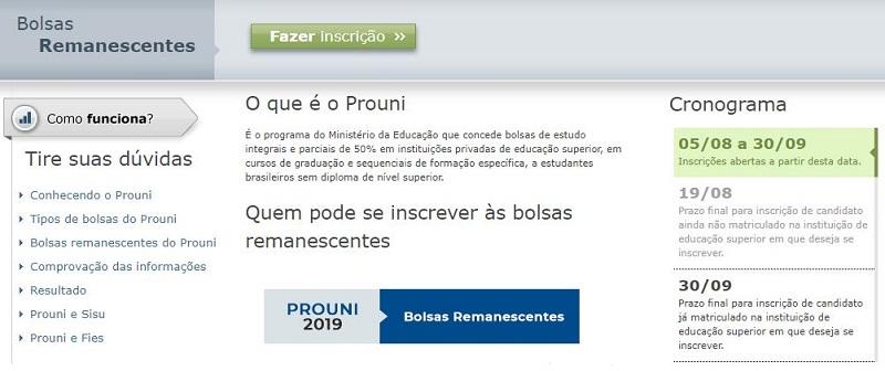 Como Fazer Inscrição no Site Prouni 2022
